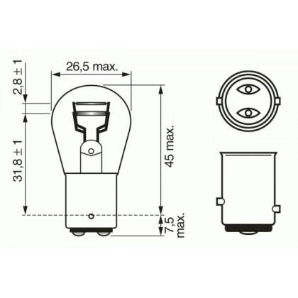 Лампа 12V 21/5W BAY15d
