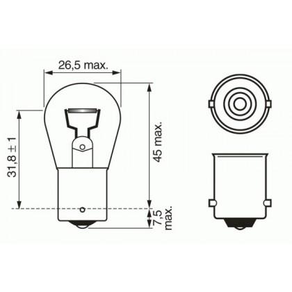 Лампа 12V 21W BA15s