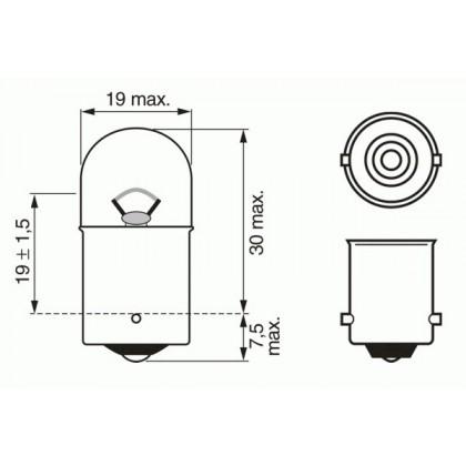 Лампа 12V 10W BA15s