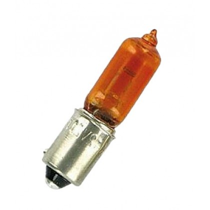 Лампа 12V 6W BAX9s габариты желтая