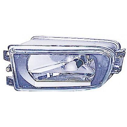 Фара противотуманная BMW E39 -09.00 Л гладкое стекло