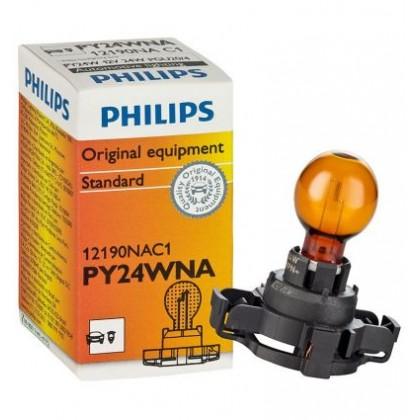 Лампа 12V PY24W указателя поворота переднего желтая