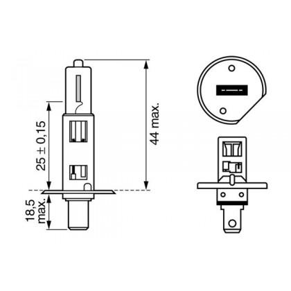 Лампа H1 12V 55W