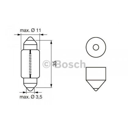 Лампа 12V 5W SV8,5-8